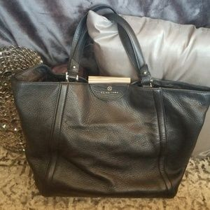 Trina Turk Leather Tote with Dust Bag